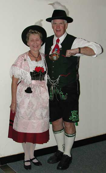 Dottie and Carl in Formal Tracht